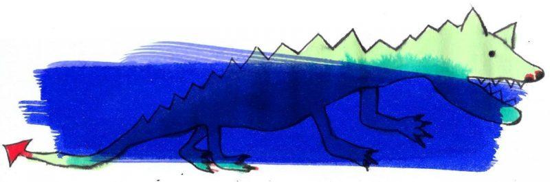Illustratie door Jantien Baas: Kleine draak – Lieve Baeten