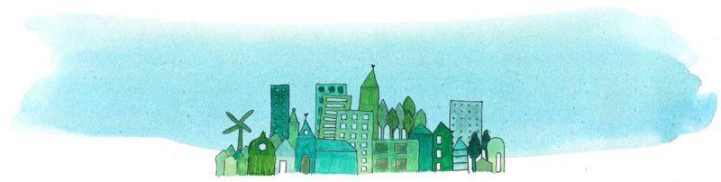 Illustratie door Jantien Baas: Hoe werkt een stad? – James Gulliver Hancock