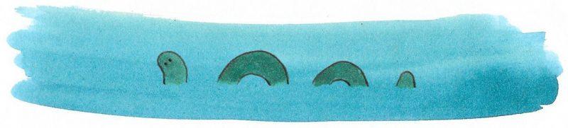Illustratie door Jantien Baas: Monsterdieren – fabels en feiten – Jet Bakels & Anne-Marie Boer