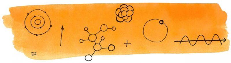 Illustratie door Jantien Baas: Professor Astrokat: Het atomisch avontuur – Dr. Dominic Walliman & Ben Newman