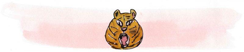 Illustratie door Jantien Baas: Ssst! De tijger slaapt – Britta Teckentrup