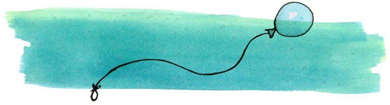 Illustratie door Jantien Baas: Vos en Haas en de ballon van Uil – Sylvia Vanden Heede & Thé Tjong-Khing
