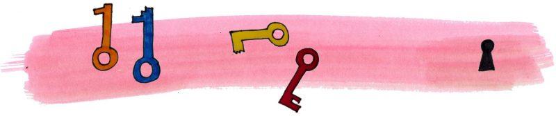 Illustratie door Jantien Baas: De strikt geheime geschiedenis van codes en codebreken – Roy Apps