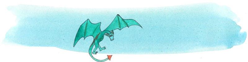 Illustratie door Jantien Baas: Vigo's vliegende boekwinkel – Jen Campbell & Katie Harnett