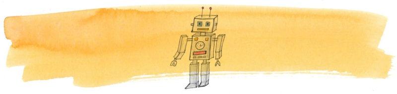 Illustratie door Jantien Baas: Een wonderlijke expeditie van robots – Tatana Rubasova & Jindrich Janicek