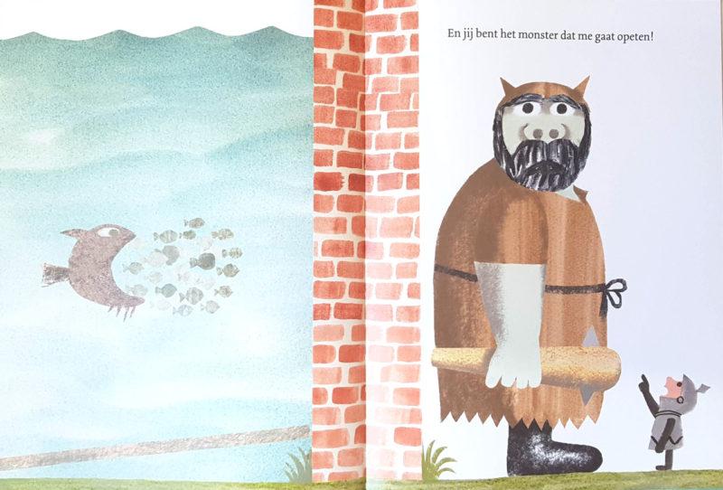 De muur in het midden van het boek - Jon Agee