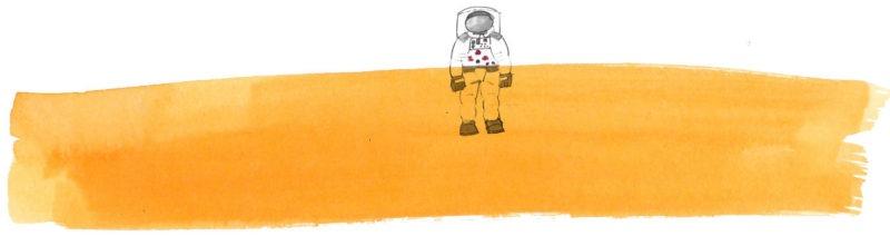 Illustratie door Jantien Baas: Reis naar de sterren – Angelique Van Ombergen, Stijn Ilsen & Katinka VanderSande
