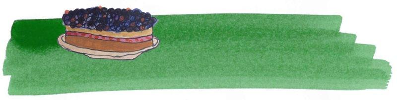Illustratie door Jantien Baas: 't Verrukkelijke kinderbakboek – Rutger van den Broek, Mark Haayema & Emanuel Wiemans